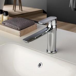 Robinet de lavabo à bec long chromé |...