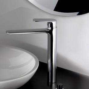 Robinet de lavabo à bec haut chromé |...