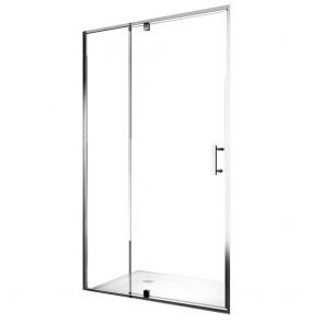 Porte de douche à charnière en verre transparent h195 | Joie