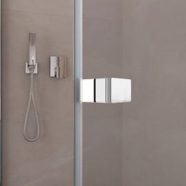 Cabine de douche avec porte battante