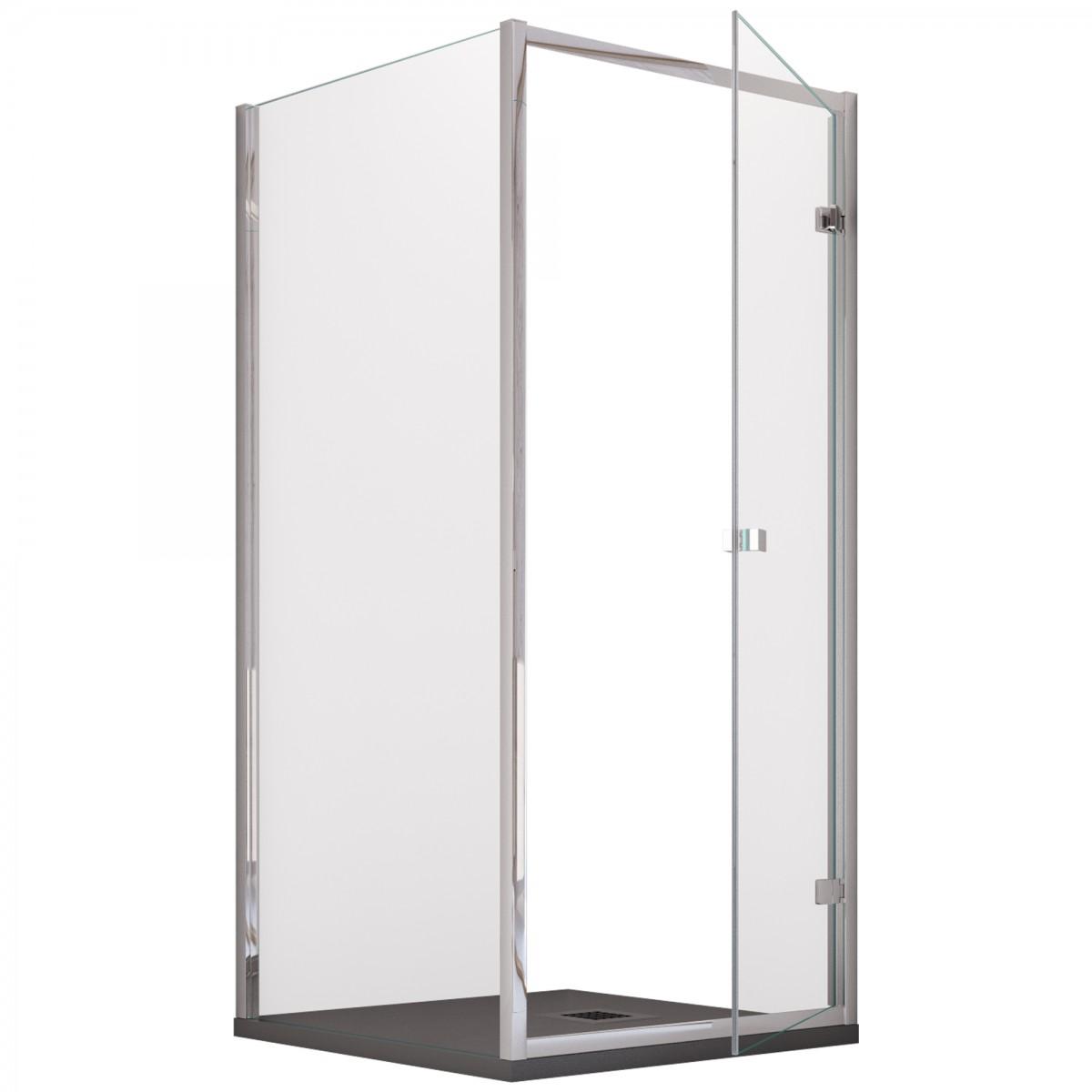 Cabine de douche à porte battante avec