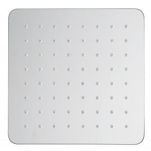 soffione da doccia 25x25 quadrato in acciaio