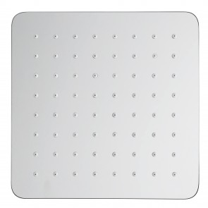 Pomme de douche carrée en acier 30x30