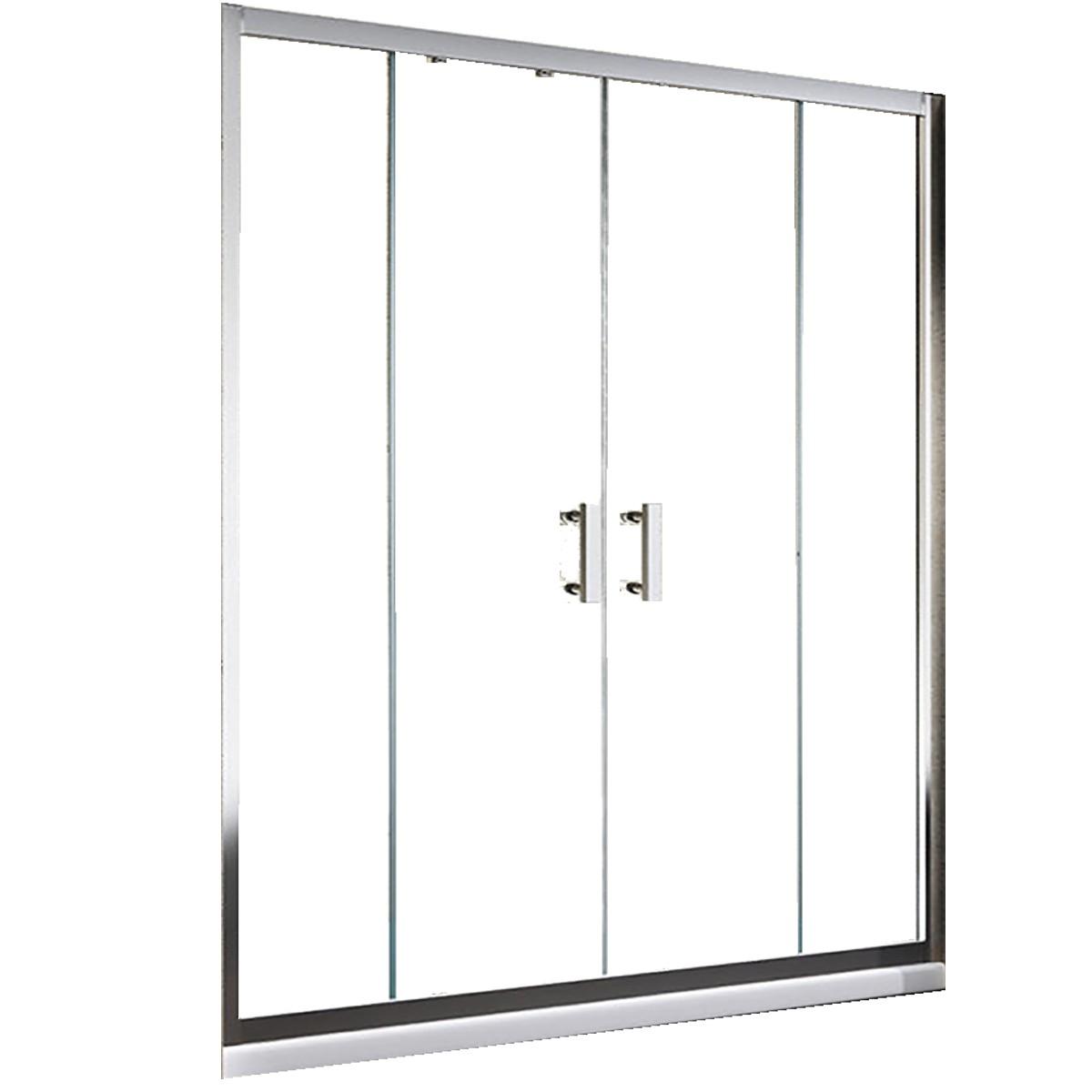 porta doccia con apertura centrale opaca