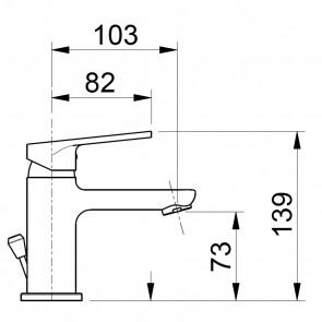 Rubinetto lavabo cromato 1 leva | Fly