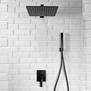 Set doccia incasso nero con soffione...