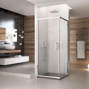 Cabine de douche en coin H195...
