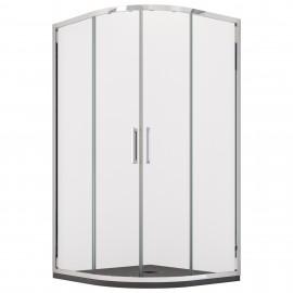 Cabine de douche semi-circulaire avec