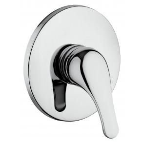Mitigeur de douche à encastrer chromé...
