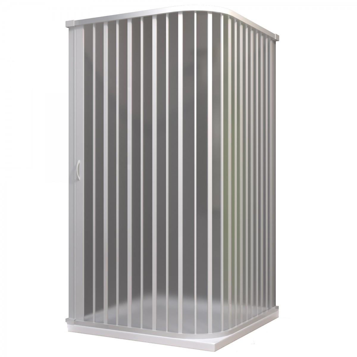 Cabine de douche d'angle 2 côtés en pvc