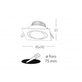 INC-ORIONE-Q6 BCO - Faretto a Incasso