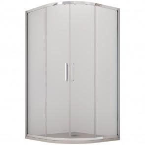 Cabine de douche semi-circulaire H195 deux portes coulissantes en cristal opaque 6 mm Athena
