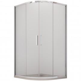 Cabine de douche semi-circulaire H195
