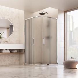 Cabine de douche ronde opaque en cristal