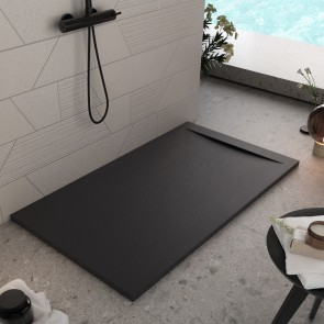 Receveur de douche en pierre noire |...