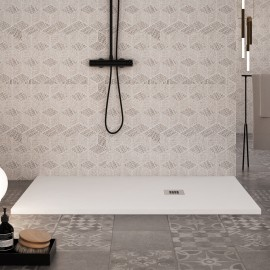 Receveur de douche en marbre blanc effet