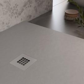 Receveur de douche en marbre gris clair