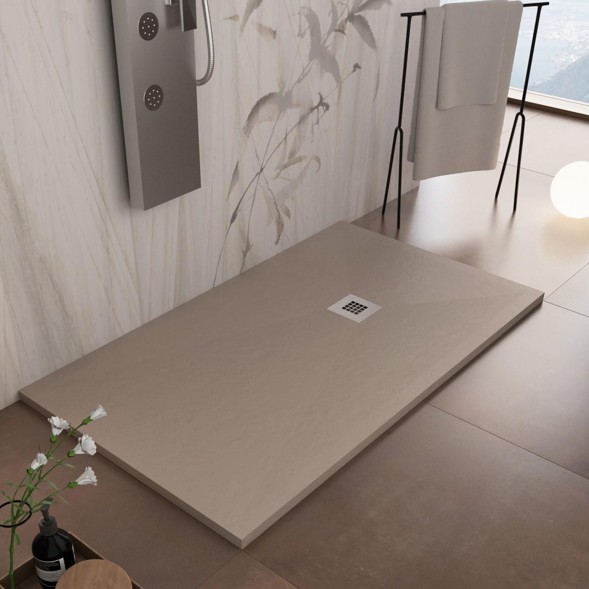 Receveur de douche en Tortora marbre