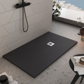 Receveur de douche en marbre noir en...