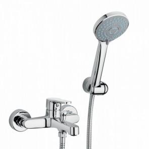 gruppo vasca esterno kit doccia cromato con doccino flash crolla