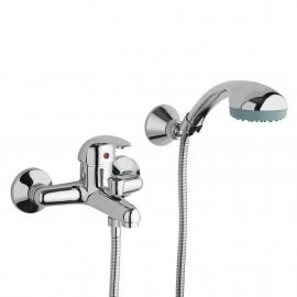 Gruppo vasca con doccia duplex cromato |