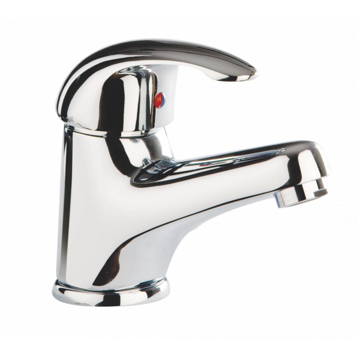 rubinetto 1 leva da lavabo cromato squalo crolla