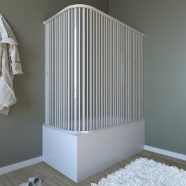 Au-dessus de la baignoire en pvc blanc 1