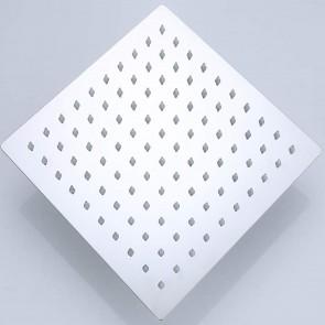 Soffione doccia quadrato in acciaio...