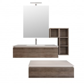 Mobile sospeso in rovere scuro 120cm