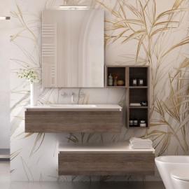 Mobile bagno sospeso effetto legno