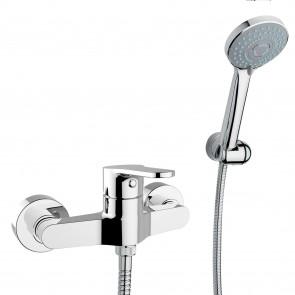 gruppo doccia esterno cromato con doccino flash crolla