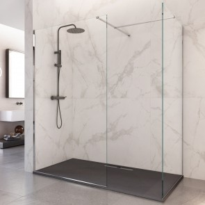 Cabine de douche recto-verso avec...