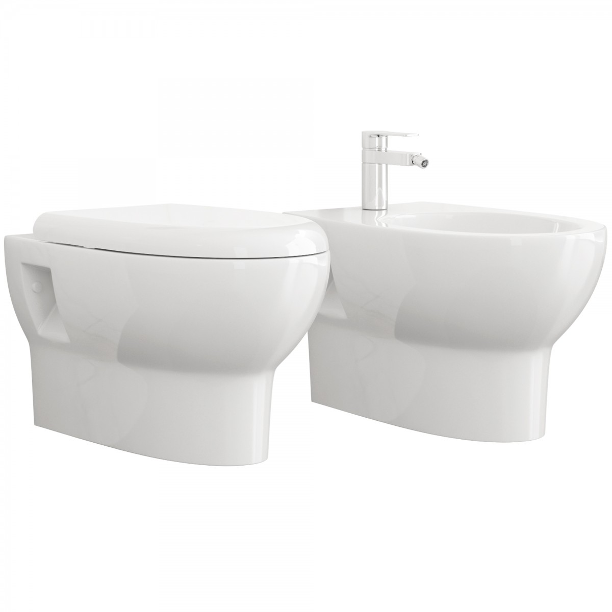 Sanitari sospesi rimless wc e bidè Andy