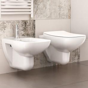 Sanitari sospesi wc e bidet Mito