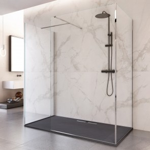 Cabine de douche à l'italienne en...