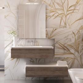 Mobile bagno sospeso 120cm effetto legno