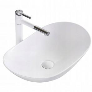 Vasque à poser en céramique blanc...