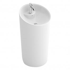 Lavabo de sol cylindrique blanc DAFNE