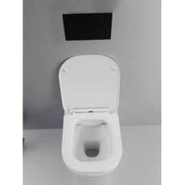 Sanitari a filo muro wc e bidet rimless