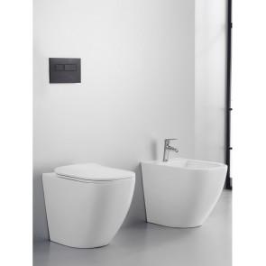 Sanitari a filo muro wc e bidet rimless copri tazza rallentato | Kolly