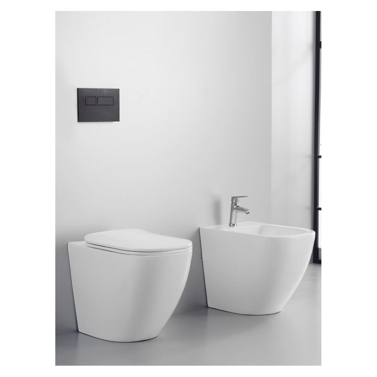 Toilettes et bidet sans rebord de