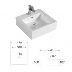 Évier à poser carré 47x47