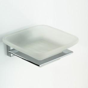 Porte-savon carré avec plaque de...