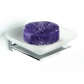 Portasapone quadrato con piattino in...