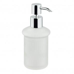 Porte-savon liquide sur pied en verre...