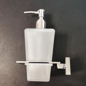 Porte-savon liquide en verre avec...