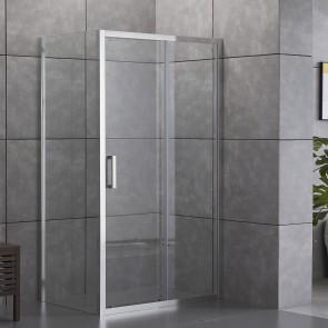 Cabine de douche à 2 faces avec côté...