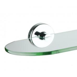 Mensola di vetro tonda - Cromato