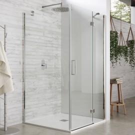 Box doccia due lati battente Trasparente