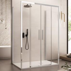 Cabine de douche trois faces...